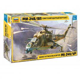 Сборная модель Советский ударный вертолет Ми-24В-ВП