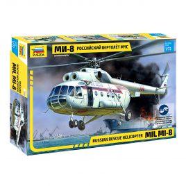 Сборная модель Российский вертолет МЧС МИ-8