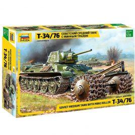 Масштабная модель Танк Т-34 76 с минным тралом