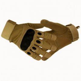 Перчатки тактические с карбоновым кастетом Койот