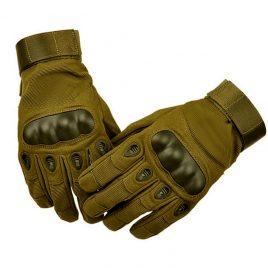 Перчатки тактические с карбоновым кастетом Олива