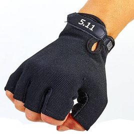 Перчатки тактические 5.11 беспалые черные